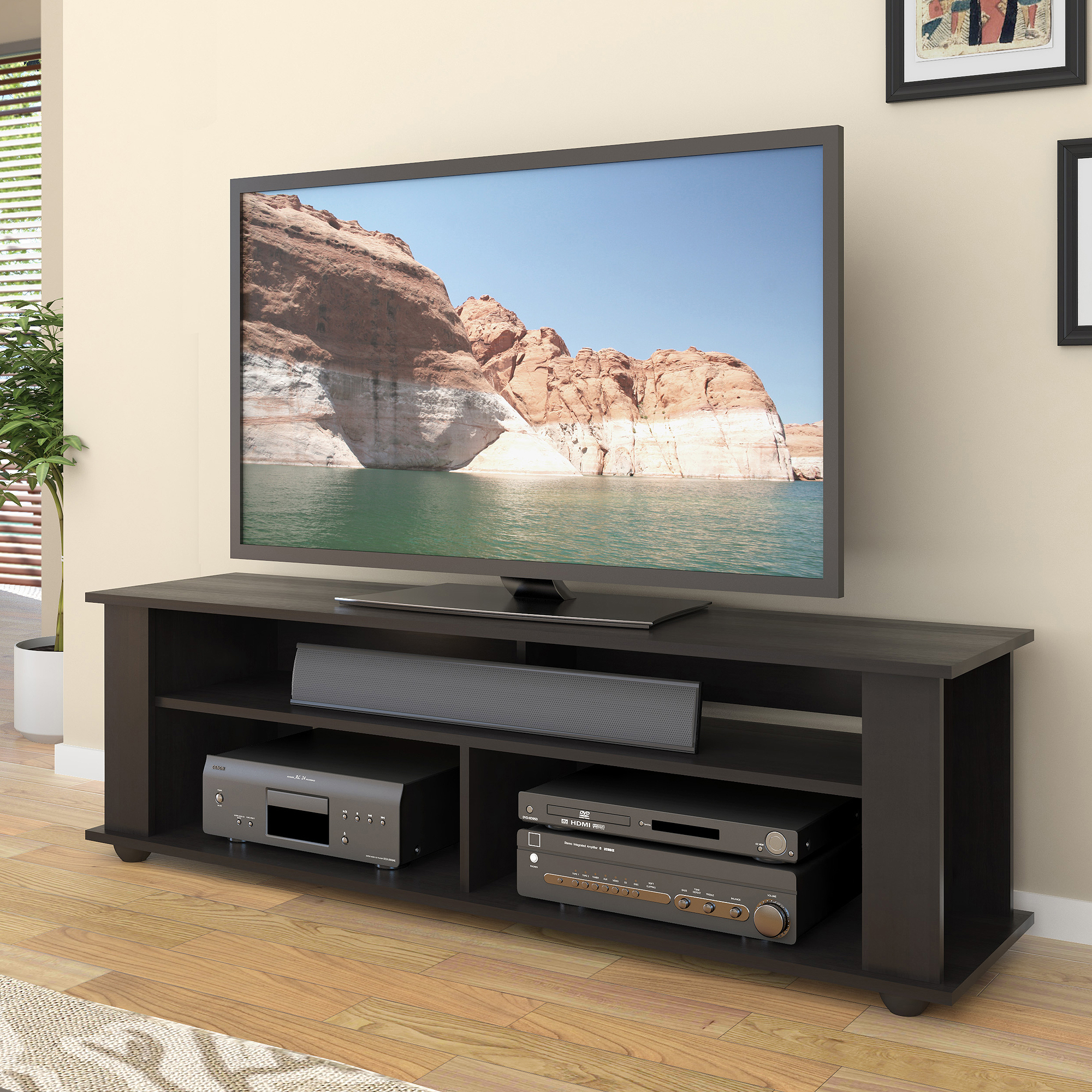 Tv 65 Inch Black Tv Stand For Tvs Up To 65 Inch Entertainment Center