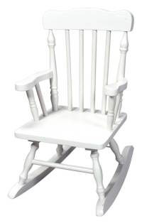 Hand-Carved Child's Wood Rocking Chair in White - Walmart.com