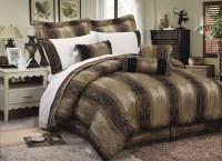 7 Piece Pienza Jacquard Comforter Set Gold/Navy - Walmart.com
