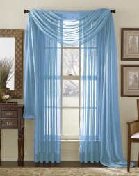 Walmart.com Light Blue Sheer Curtains