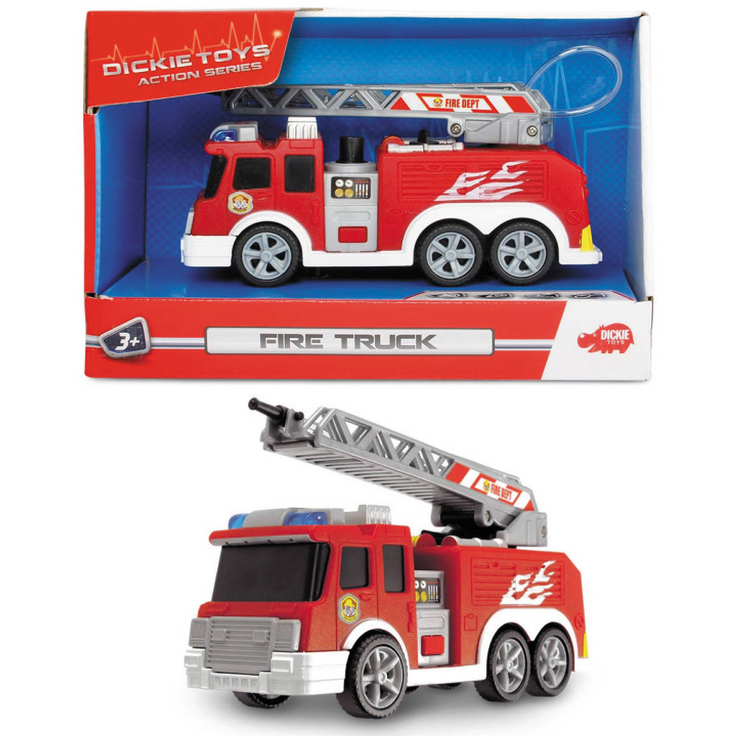 Dickie Toys Mini Action Fire Truck Vehicle Walmart
