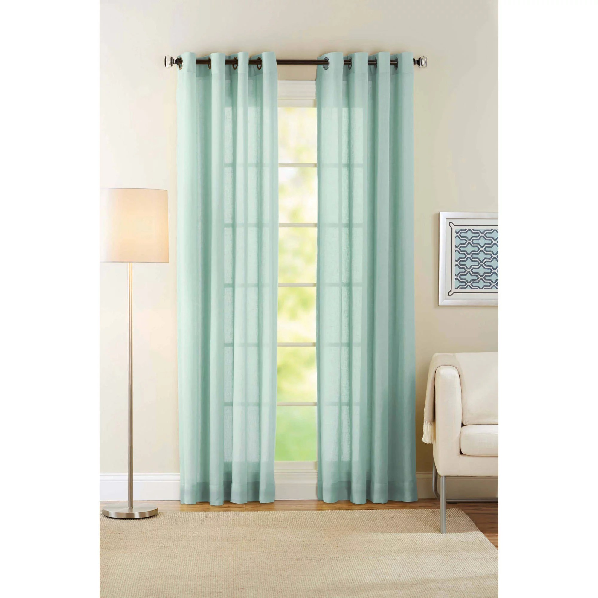 Curtains For Sale At Walmart Diamond Sheer Voile Curtain Panels