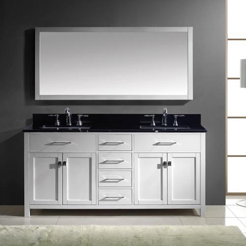 Virtu usa caroline 72 inch double bathroom vanity cabinet set in white