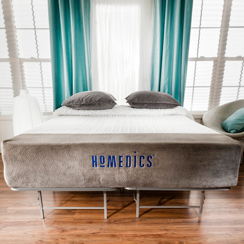 Homedics Renew 12quot Gel Memory Foam Mattress And Bed Frame