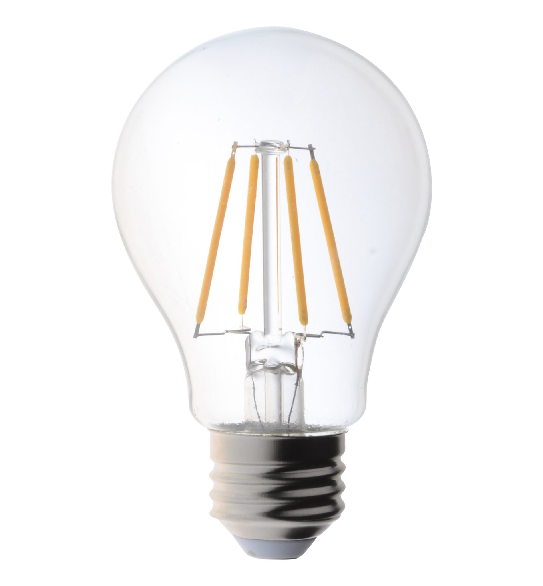40 Watt Led 6 Pack 40 Watt Light Bulbs Vintage Edison Style Filament Led Dimmable A19 Uses 4 5 Watts Warm White 2700k Clear Pendent Light Bulb Ul Listed
