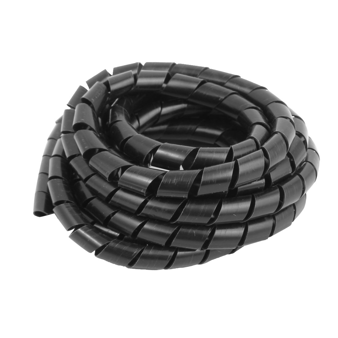 Flexible Rohre 2 7m Length 10mm Od Flexible Spiral Tube Wrap Cable Wire Computer Cord Black