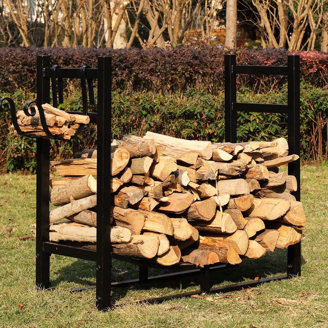 Outdoor Firewood Rack Vivohome 3ft Heavy Duty Indoor Outdoor Firewood Storage Log Rack With Kindling Holder