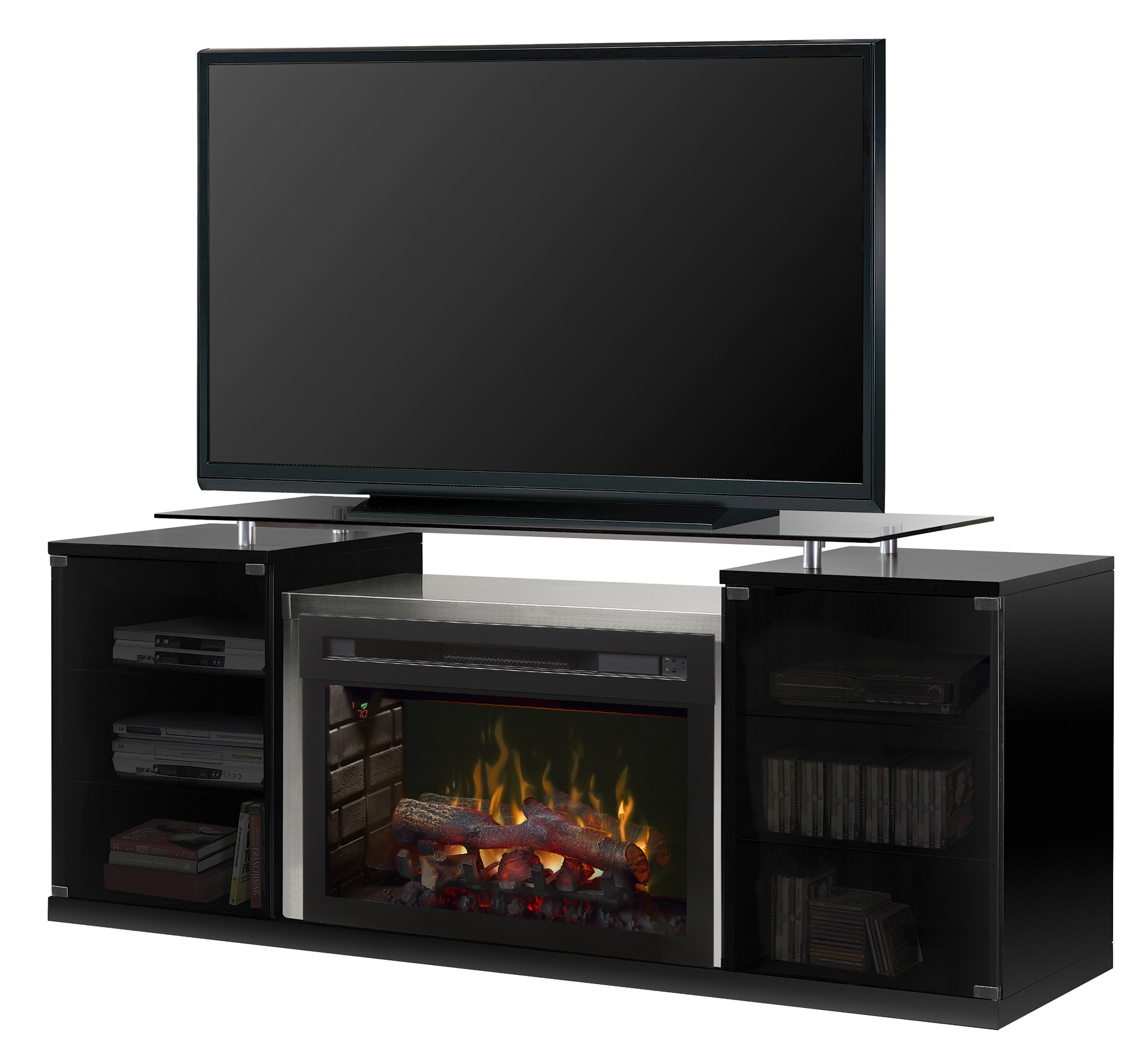 Walmart Black Electric Fireplace Dimplex Marana Media Console Log Electric Fireplace For Tvs Up To 55