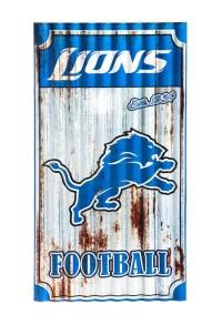 Detroit Lions Corrugated Metal Wall Art - Walmart.com