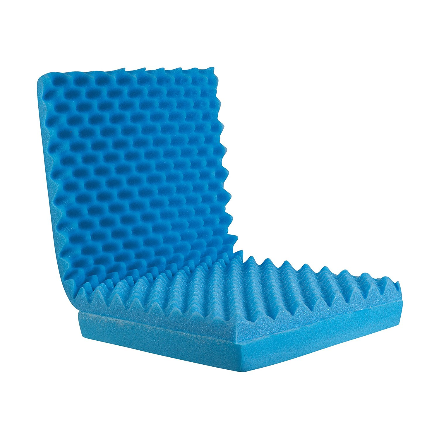 Bed Sore Cushions Convoluted Foam Chair Pad Seat Cushion With Attached Back Cushion Blue Sculpted Foam Seat Cushion With Attached Back Cushion Provides Comfort By