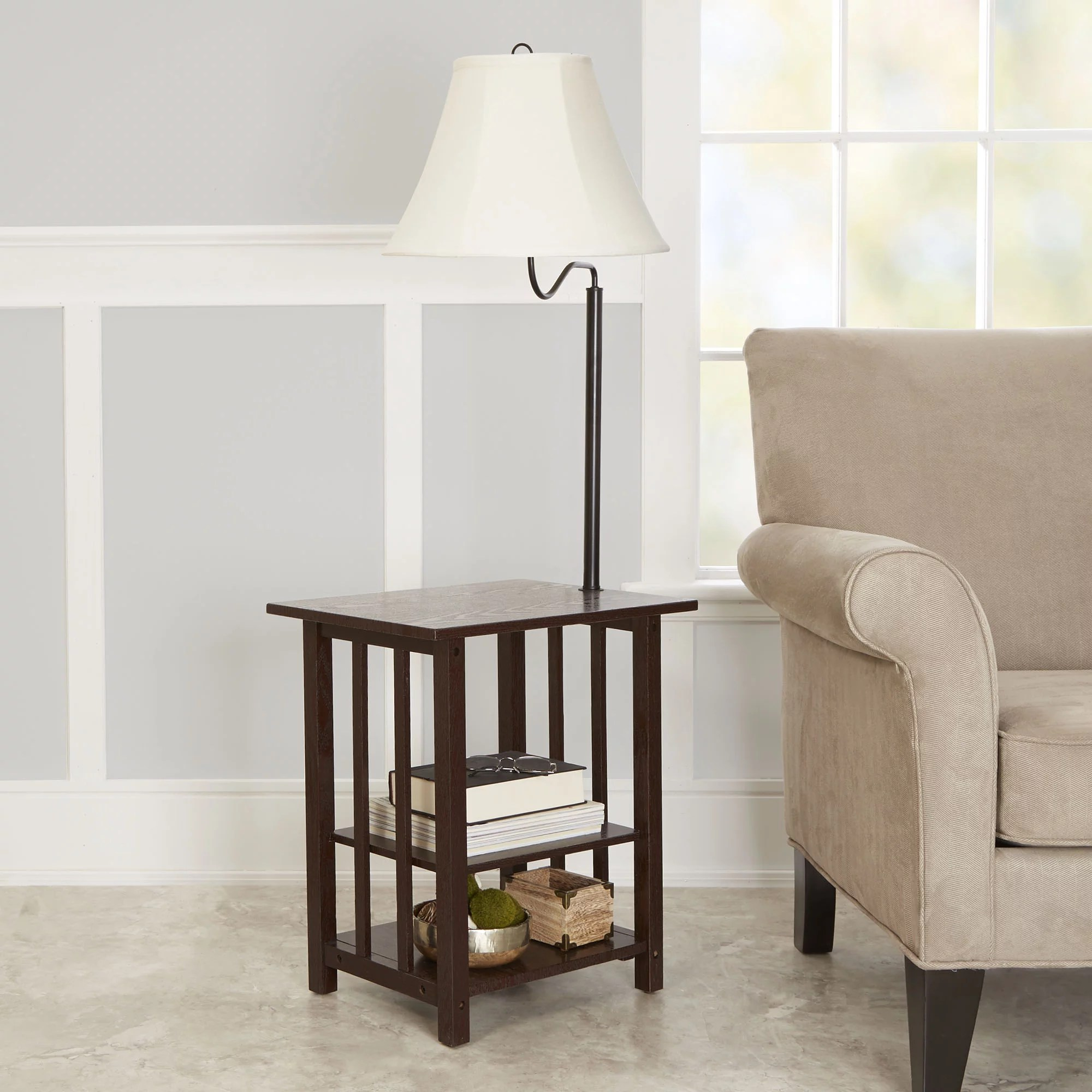 End Table For Living Room Better Homes Gardens 3 Rack End Table Floor Lamp Espresso Finish