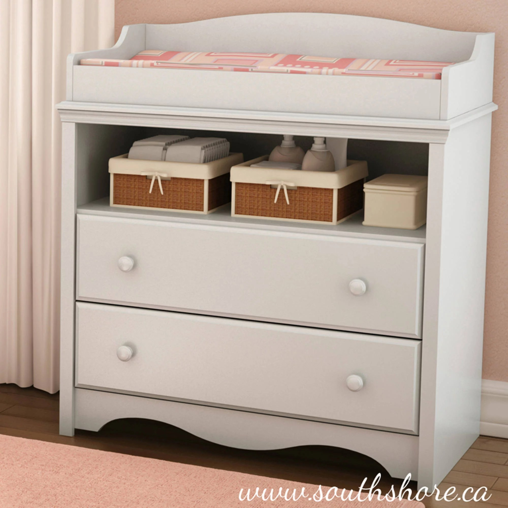Changing Table Chest Of Drawers South Shore Fundy Tide Changing Table And 4 Drawer Chest Multiple Finishes