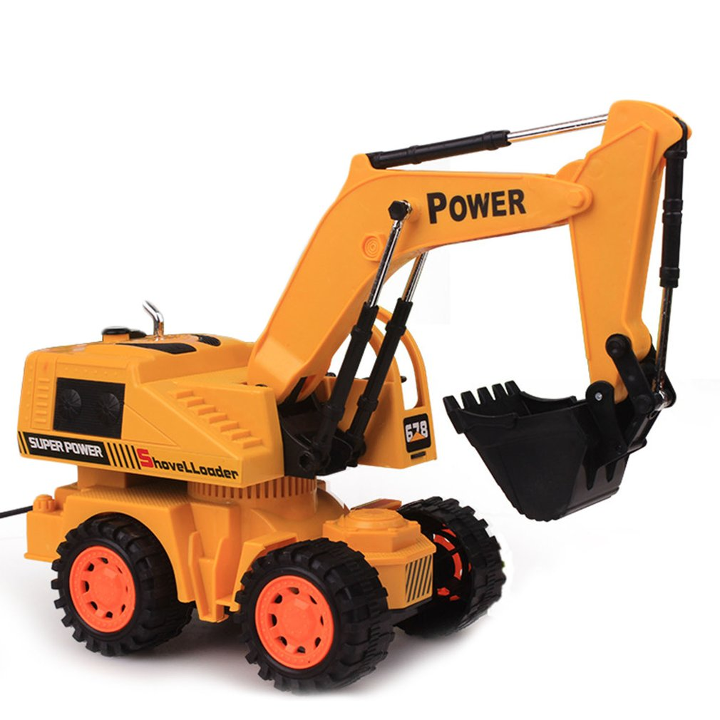 Digger Toy Children Remote Control Constructing Excavator Truck Crawler Digger Toys
