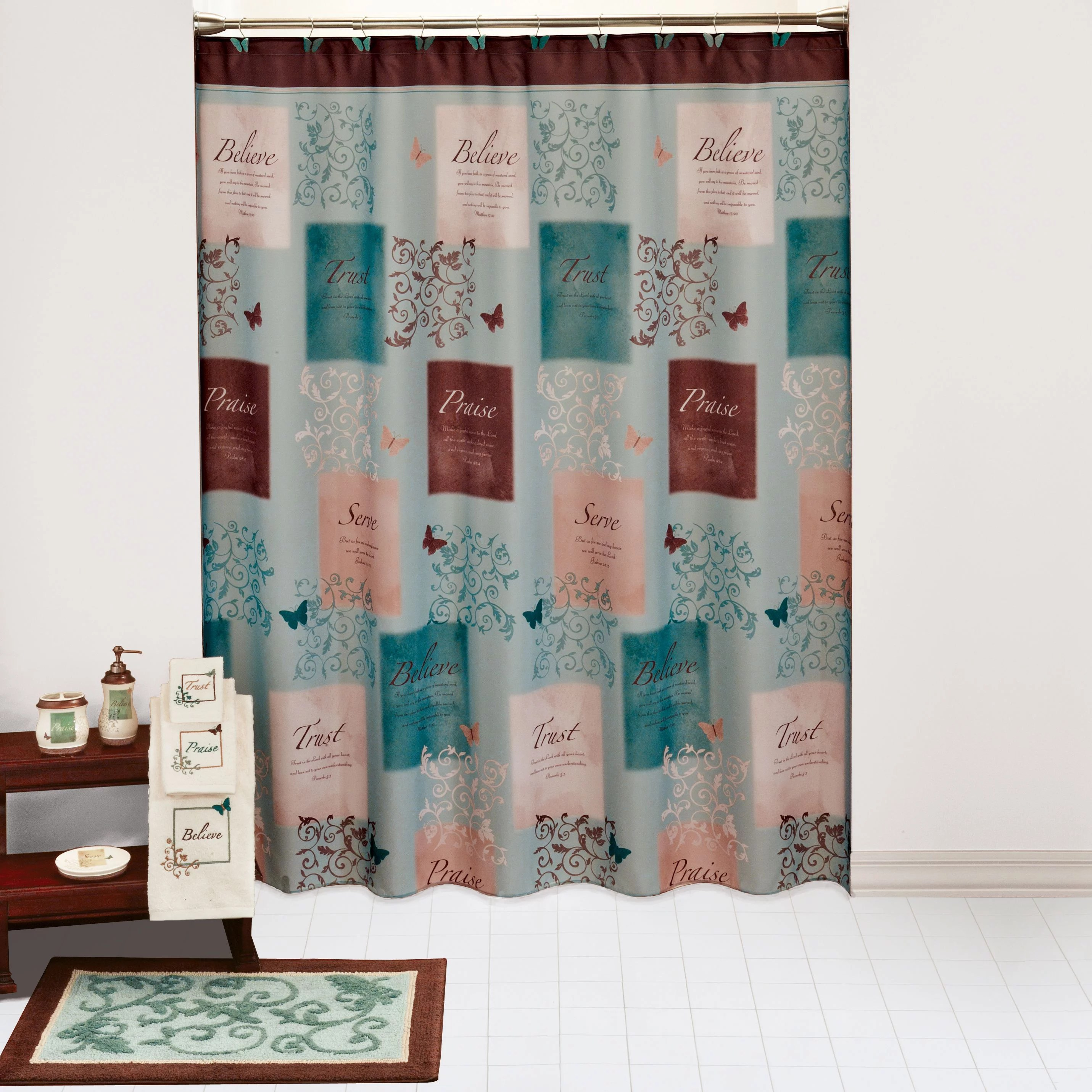 How To Make Shower Curtain Butterfly Blessings Shower Curtain 1 Each