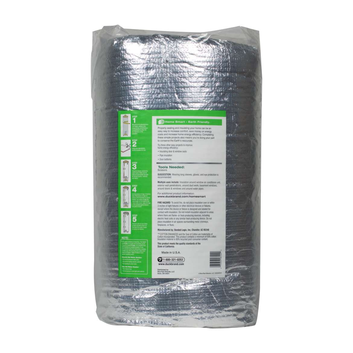 Foil Insulation Blanket Duck Brand Water Heater Insulation Blanket 1 8 In X 48 In X 75 In