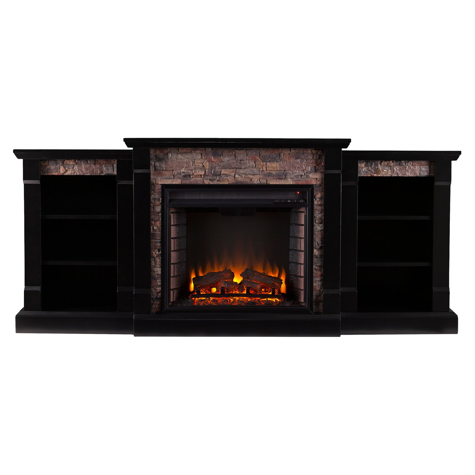 Stone Electric Fireplace Tv Stand Details About Large Electric Fireplace W Bookcase Faux Stone Wood Heater Tv Stand Remote Room
