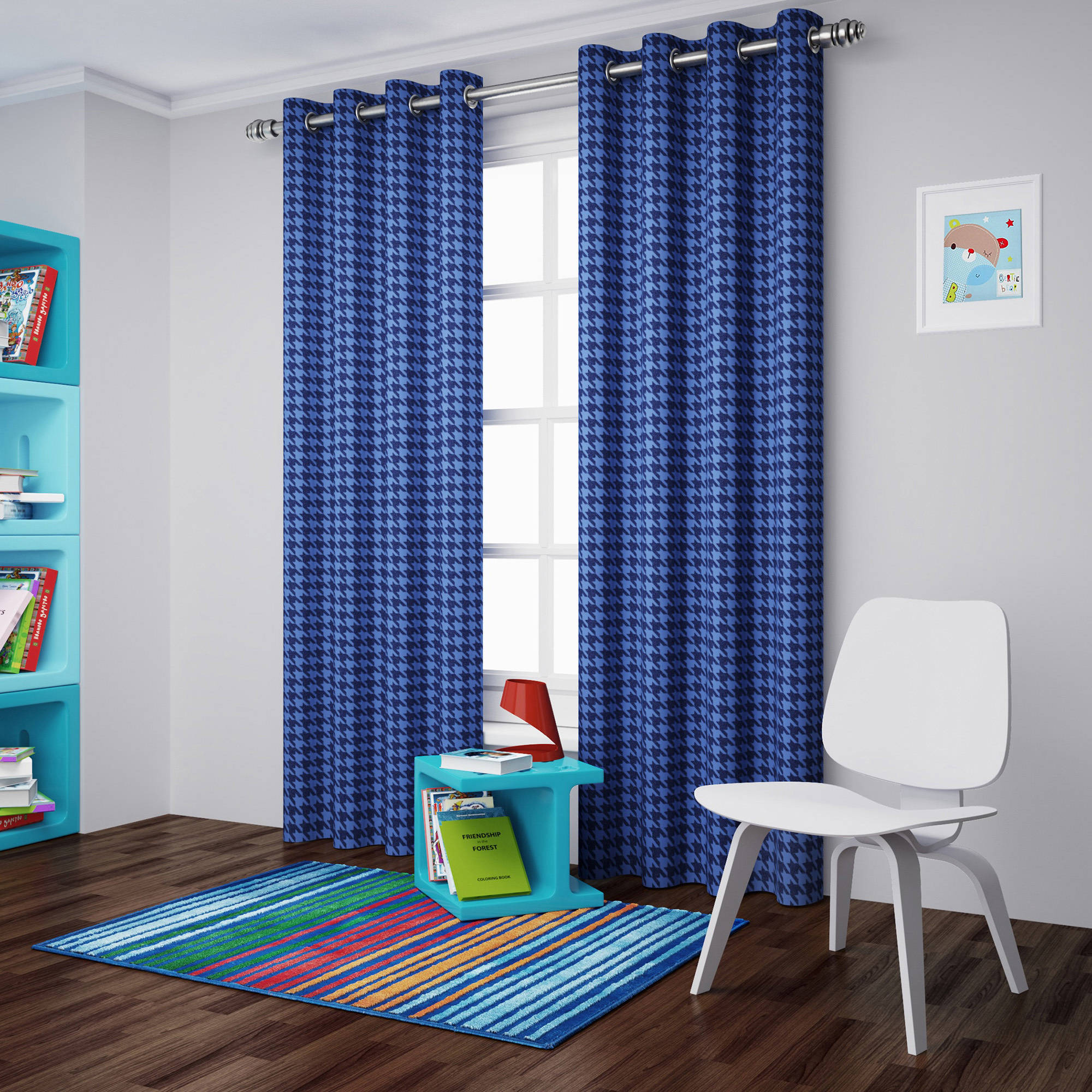 Walmart Thermal Curtains Eclipse Kids Dots Blackout Thermal Window Panel Walmart