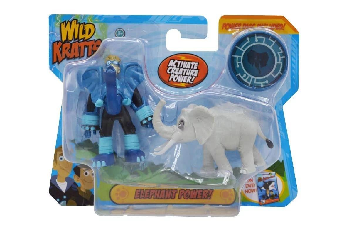 Toys 2 Pack Creature Power Action Figure Set Elephant