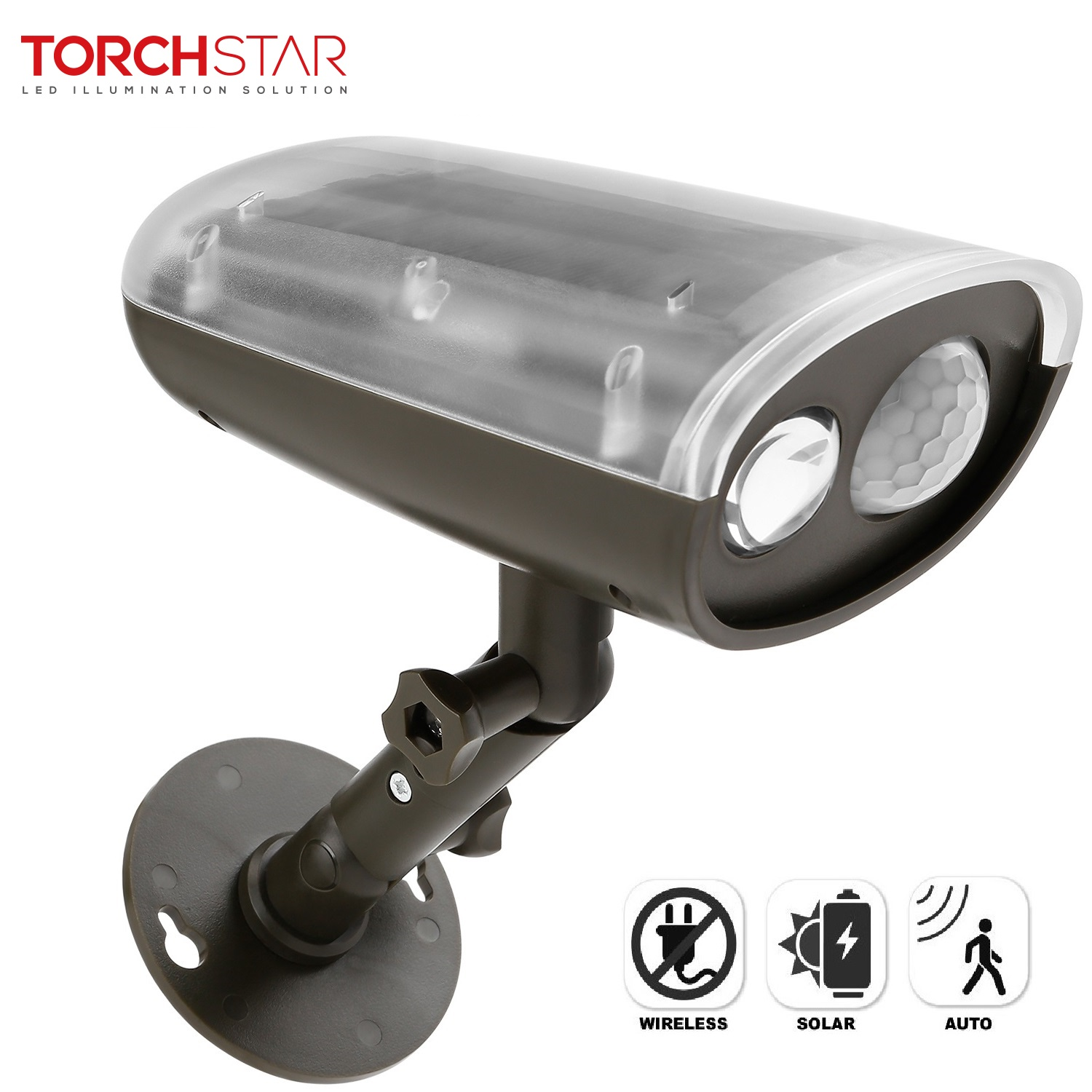 Led Solar Torchstar Led Solar Powered Outdoor Security Light With Motion Sensor Waterproof Wireless Solar Wall Lights