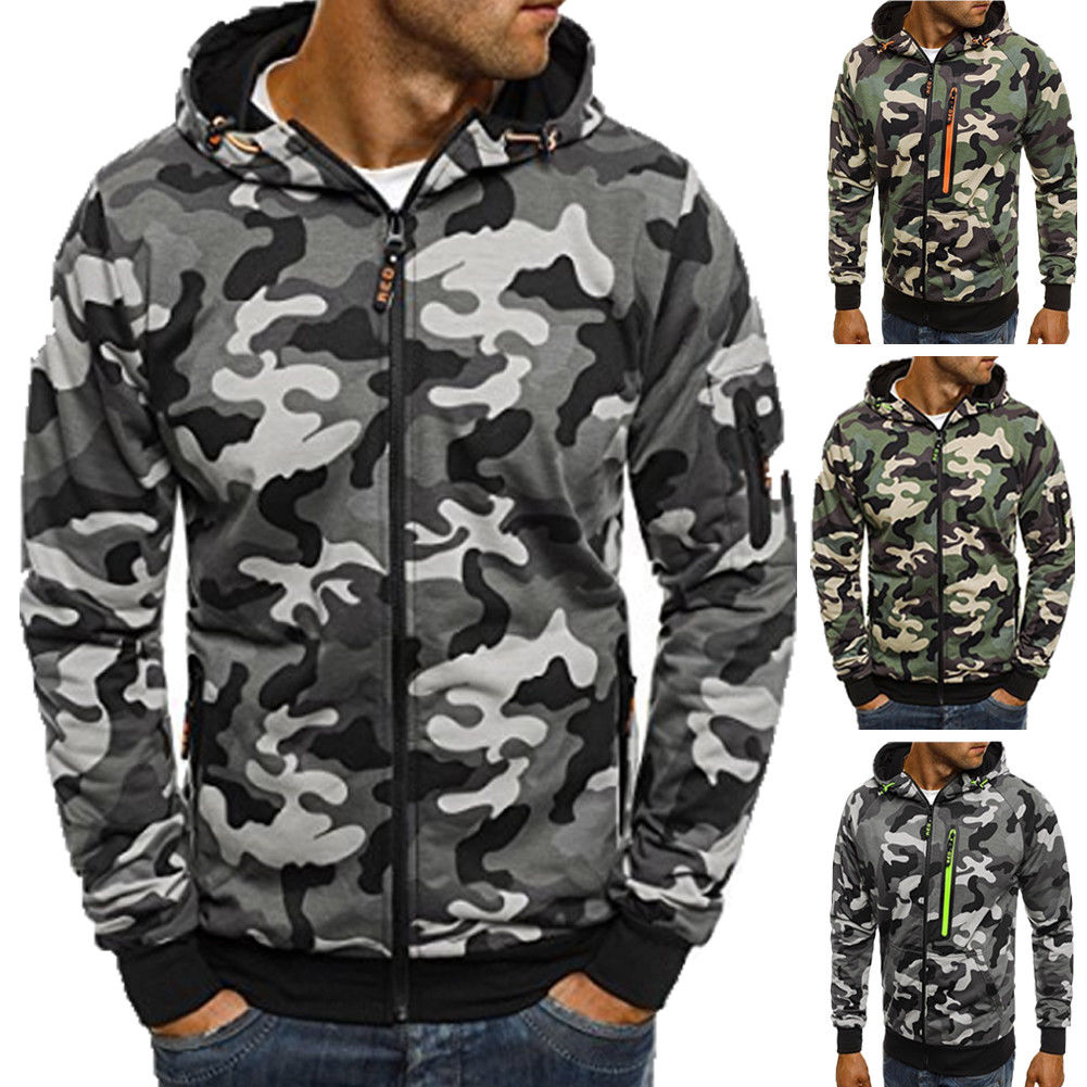 Camo Hoodie Friends Mens Camo Camouflage Hoodie Hoody Green Army Hooded Jumper Jacket Pullover M 3xl