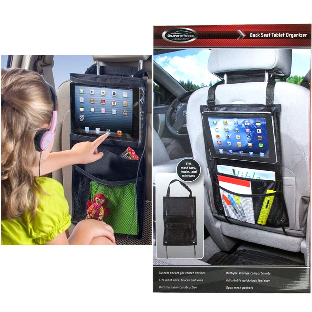 Auto Organizer Tablet 1 Back Seat Car Hanging Tablet Holder Hook Storage Organizer Bag Pocket For Ipad