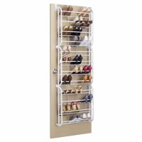 Whitmor 36-Pair Over the Door Shoe Rack White - Walmart.com
