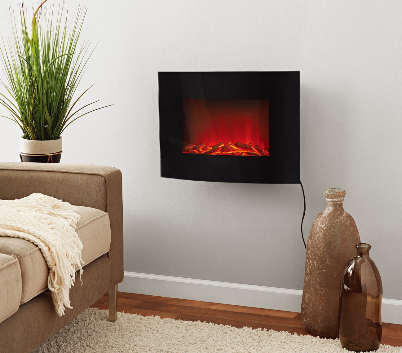 Wall Mount Fireplace Heaters Mainstays Freestanding Or Wall Mounted Fireplace Heater Black
