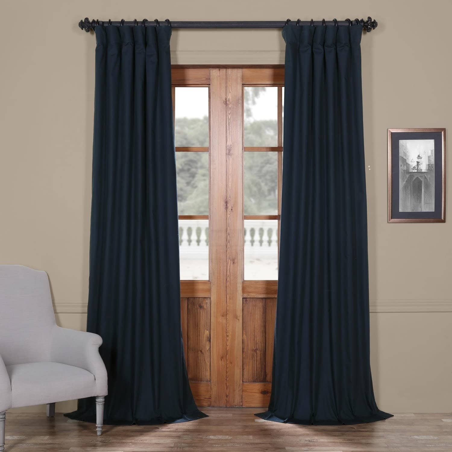 94 Inch Blackout Curtains Exclusive Fabrics Solid Cotton True Blackout Curtain Panel