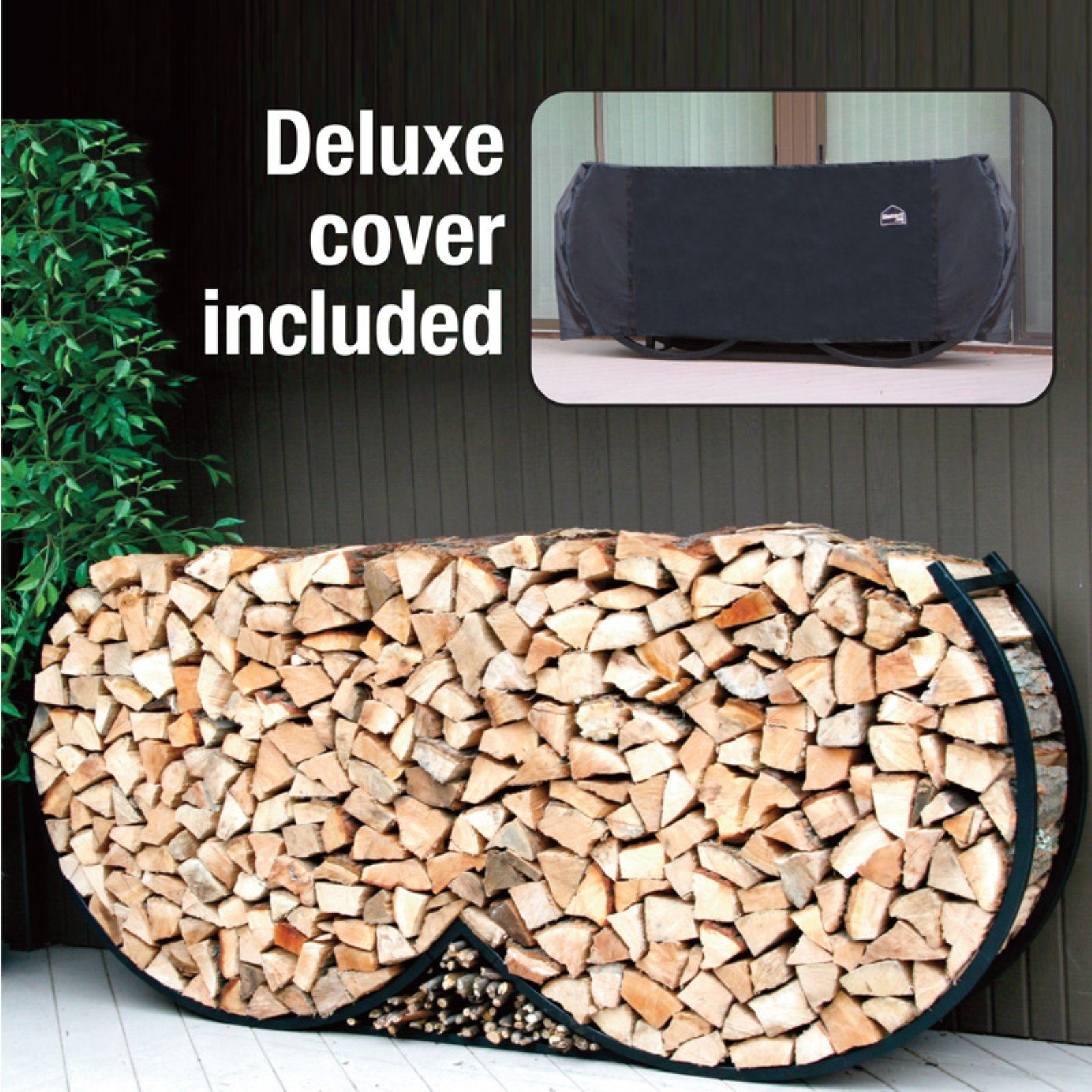 Outdoor Firewood Rack Details About 8 Ft Large Round Log Rack Outdoor Metal Firewood Fire Wood Pile Storage Cover