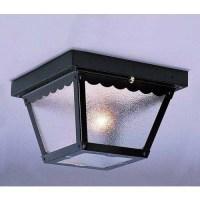 Volume Lighting V7231 1 Light Flush Mount Outdoor Ceiling ...
