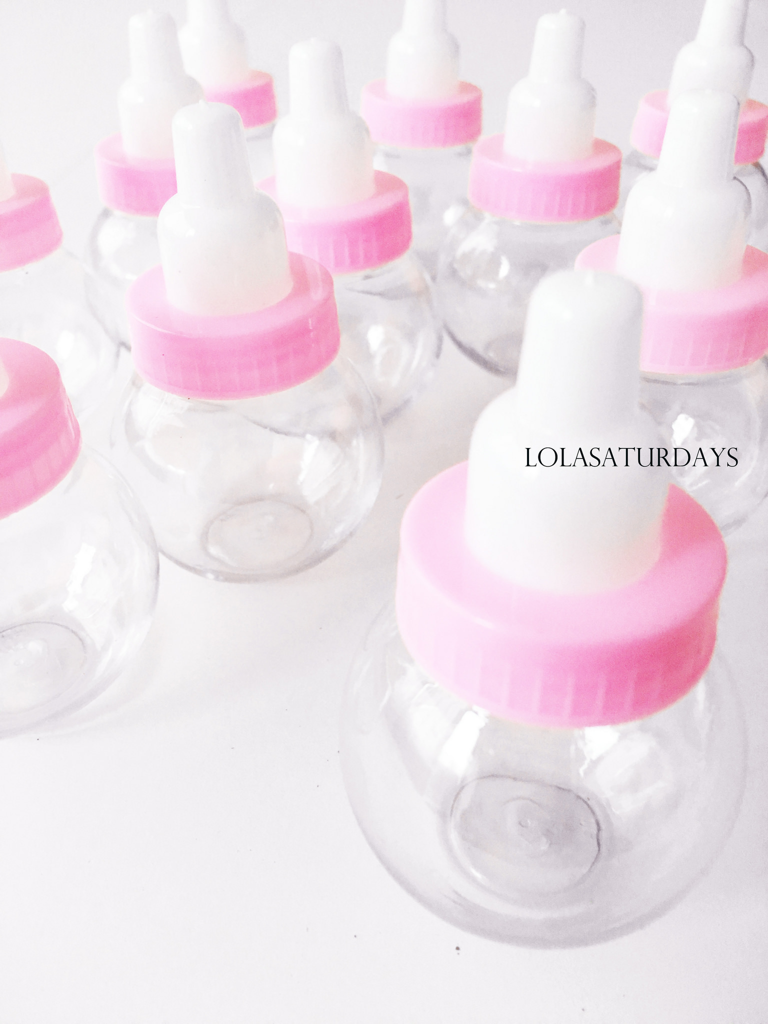 Milk Bottles For Decoration 12 Pink Fillable Bottles Baby Shower Favors Decoration
