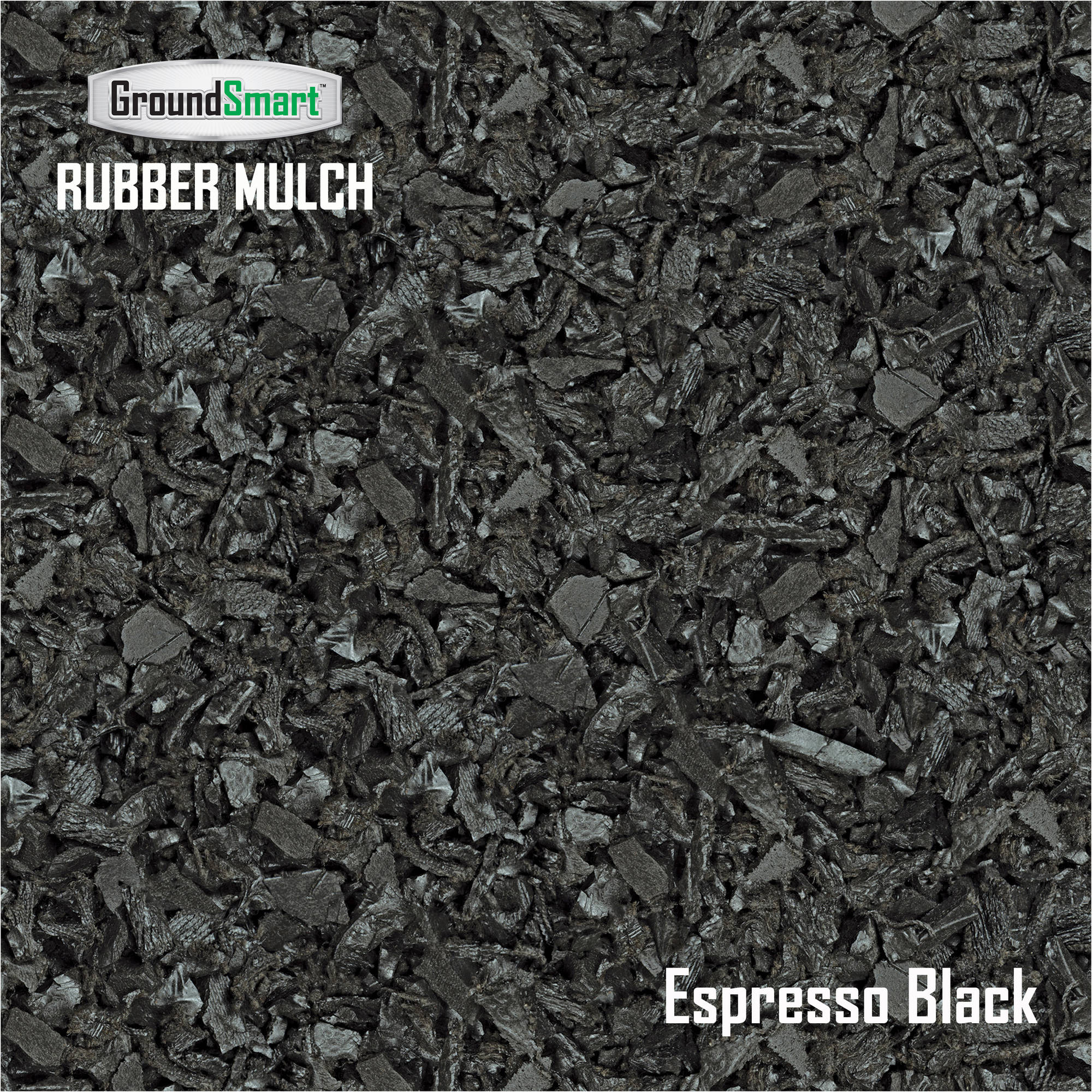 Black Bark Mulch Groundsmart Rubber Mulch Espress Black Supersack 76 9 Cu Ft