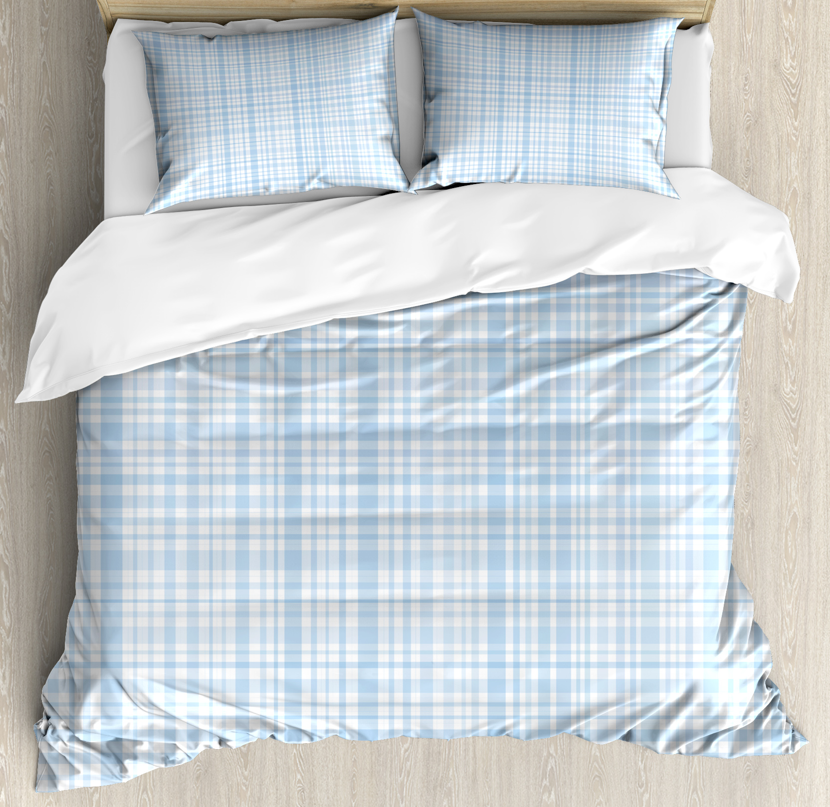Buy Duvet Cover Seafoam Queen Size Duvet Cover Set Plaid Quilt Pattern With Squares And Lines Abstract Traditional Arrangement Decorative 3 Piece Bedding Set With 2