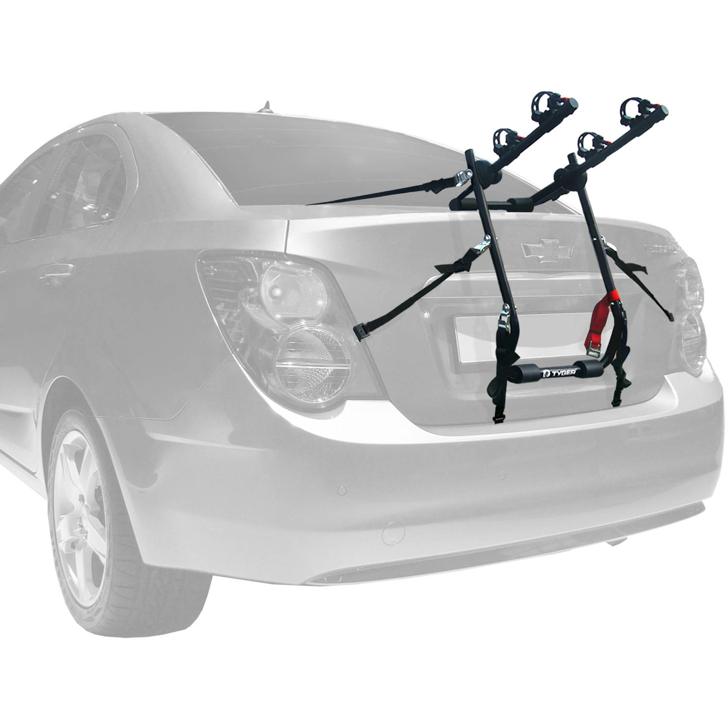 Tyger Deluxe Trunk Mount 2 Bike Carrier Rack For Sedan