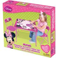 Disney Minnie Mouse Erasable Activity Table Kids Set, 2 ...