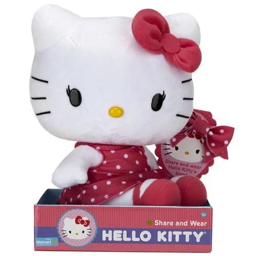 Hello Kitty Pretty In Pink Large Plush Walmart