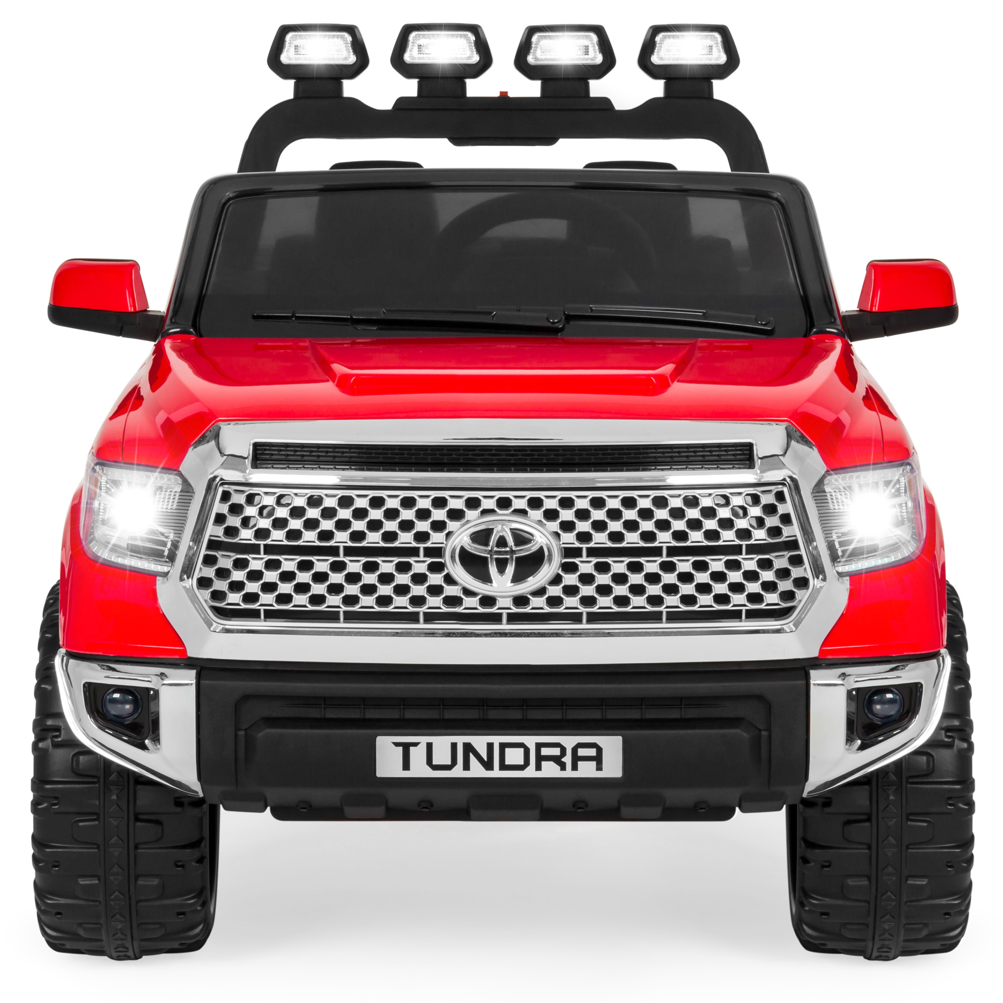 Led Lights For Trucks Best Choice Products 12v Kids Battery Powered Remote Control Toyota Tundra Ride On Truck W Led Lights Music Storage Compartment Red