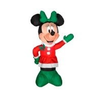 3.5' Inflatable Disney LED Lighted Winter Minnie Mouse ...
