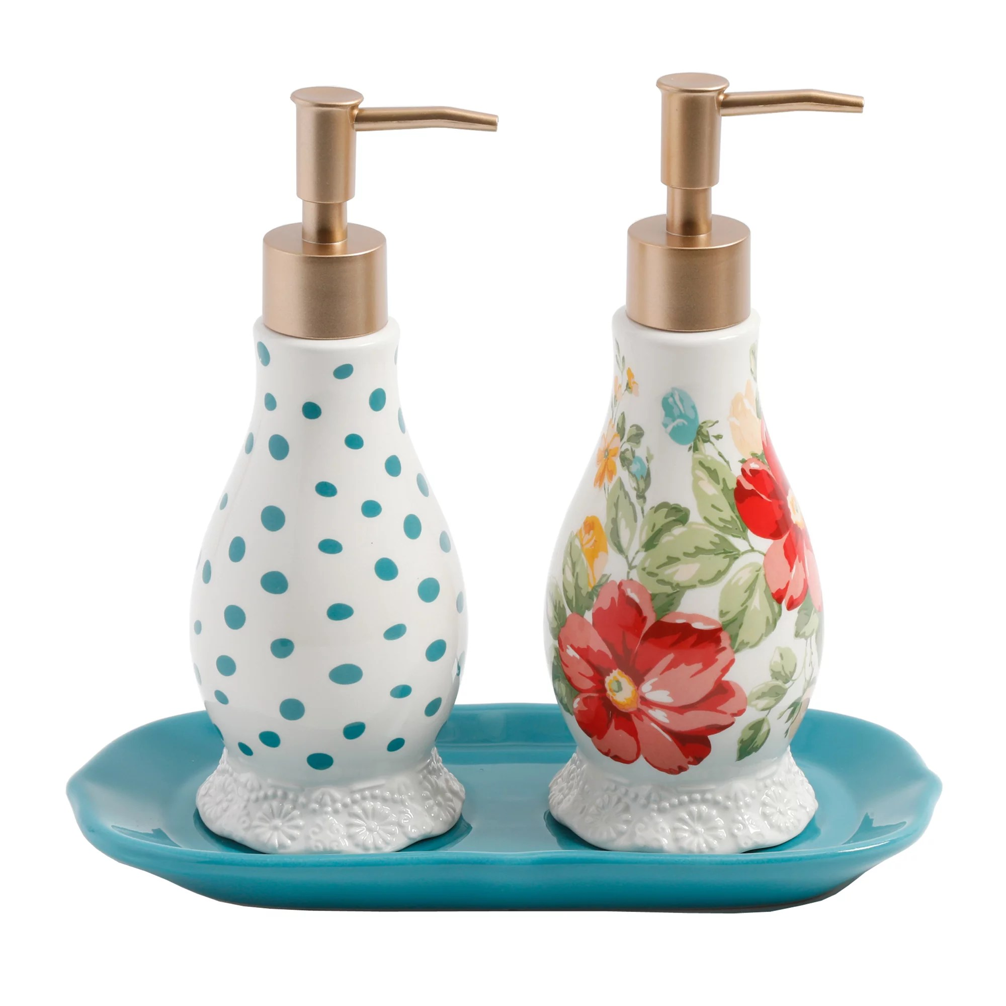 Unique Hand Soap Dispenser The Pioneer Woman Vintage Floral Soap And Lotion Set Walmart