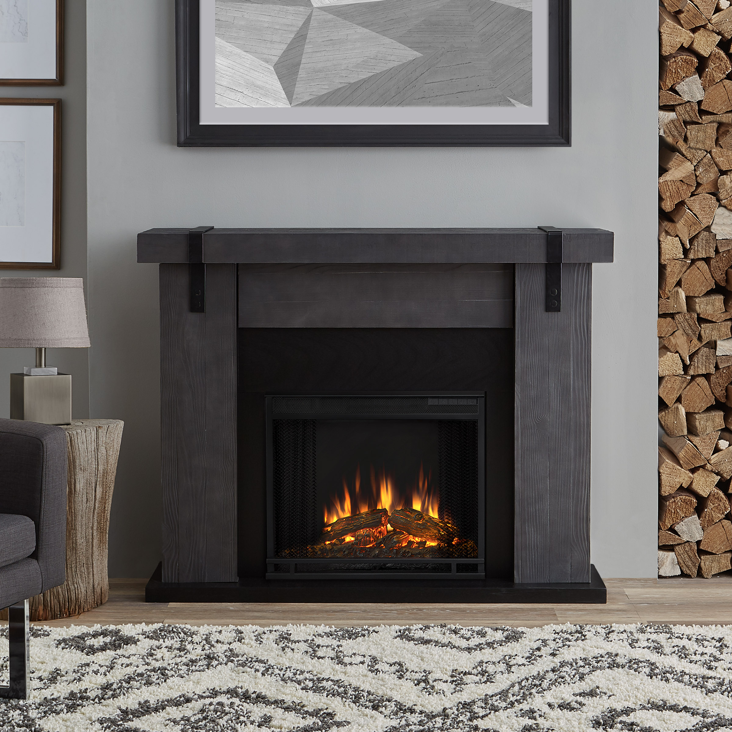Electric Fireplaces For Sale At Walmart Aspen Electric Fireplace In Gray Barnwood By Real Flame