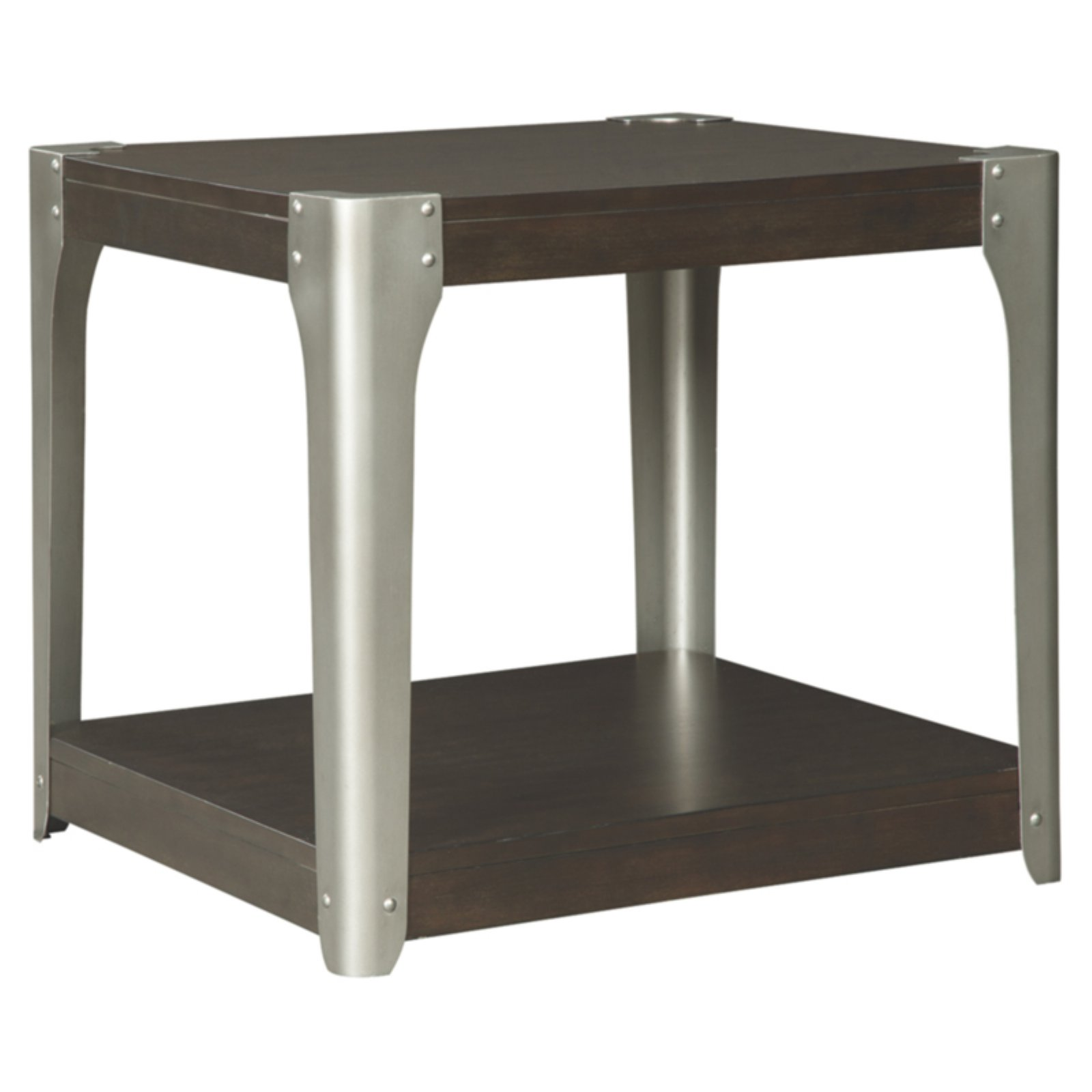 Signature Design By Ashley Geriville Square End Table Walmart Com Walmart Com