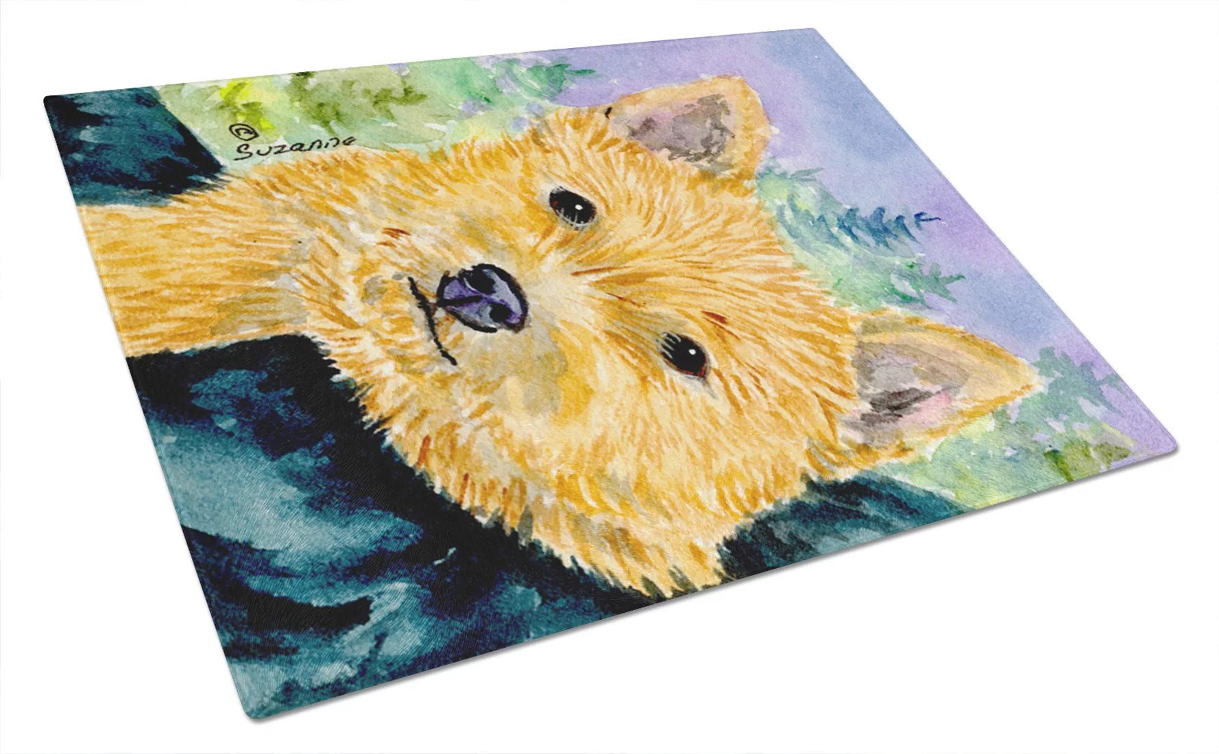 Norwich Terrier Glass Cutting Board Large - Walmart - walmart norwich