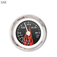 Turbo Gauge - SAE Carbon Fiber Red Flame, White Modern ...