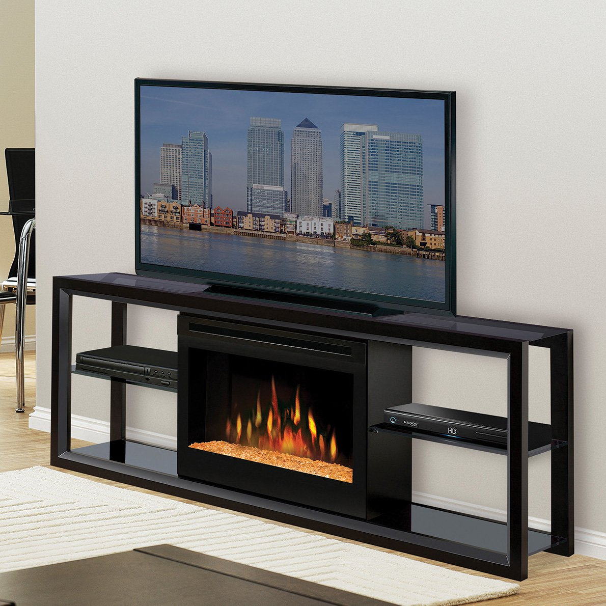 Walmart Black Electric Fireplace Dimplex Novara Black Entertainment Center Electric Fireplace