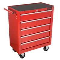 Rolling Tool Box Cabinet, 5 Drawer Portable Storage Chest ...