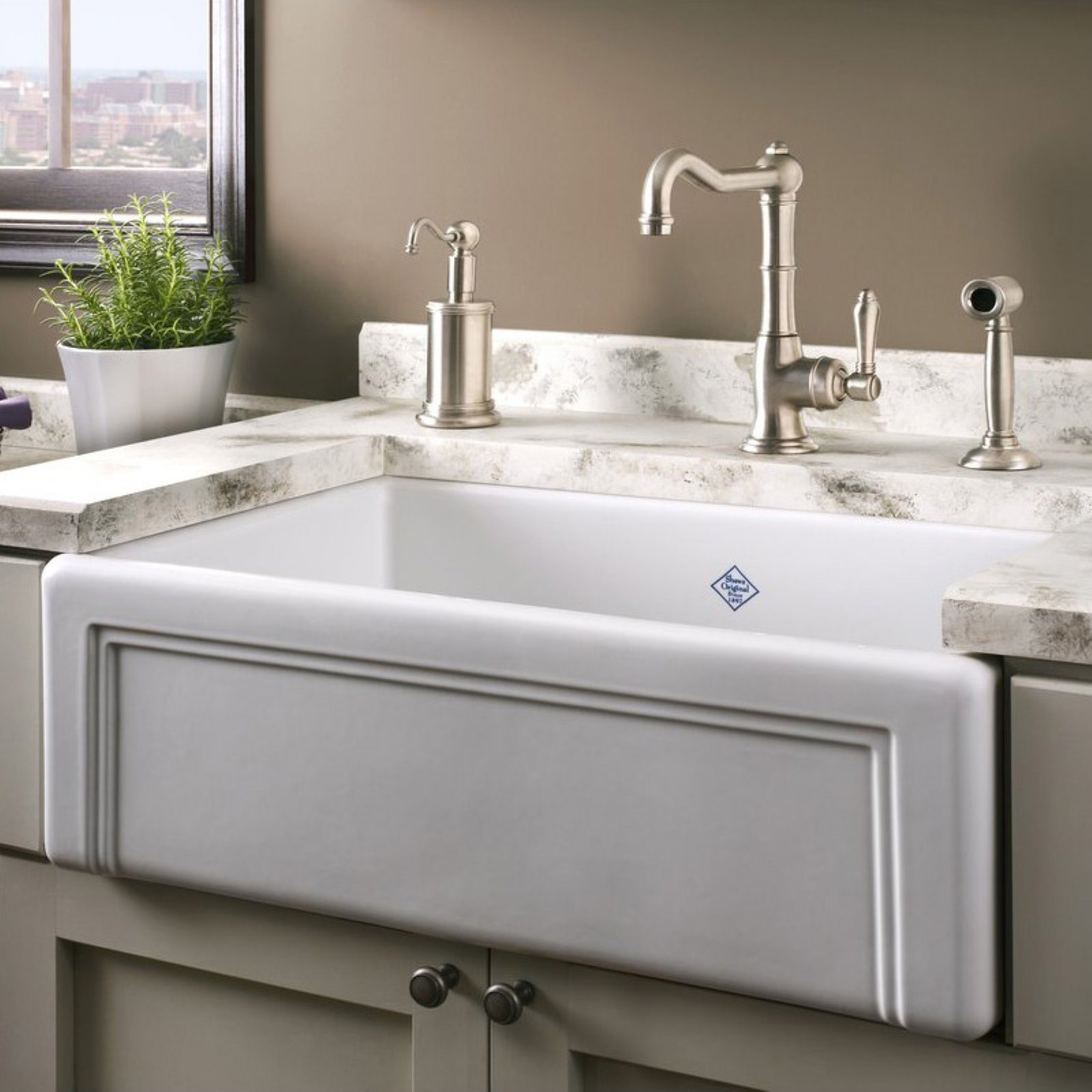 Shaw Farmhouse Sink Reviews Rohl Rc3017 Shaws Single Basin Farmhouse Sink