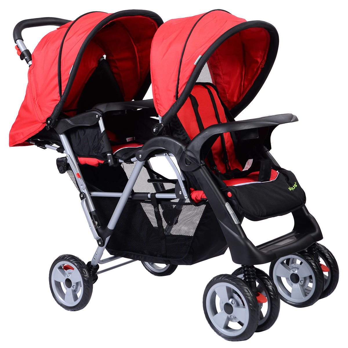 Travel System Tandem Stroller Pushchair Double Stroller Pushchair Tandem Foldable Kids