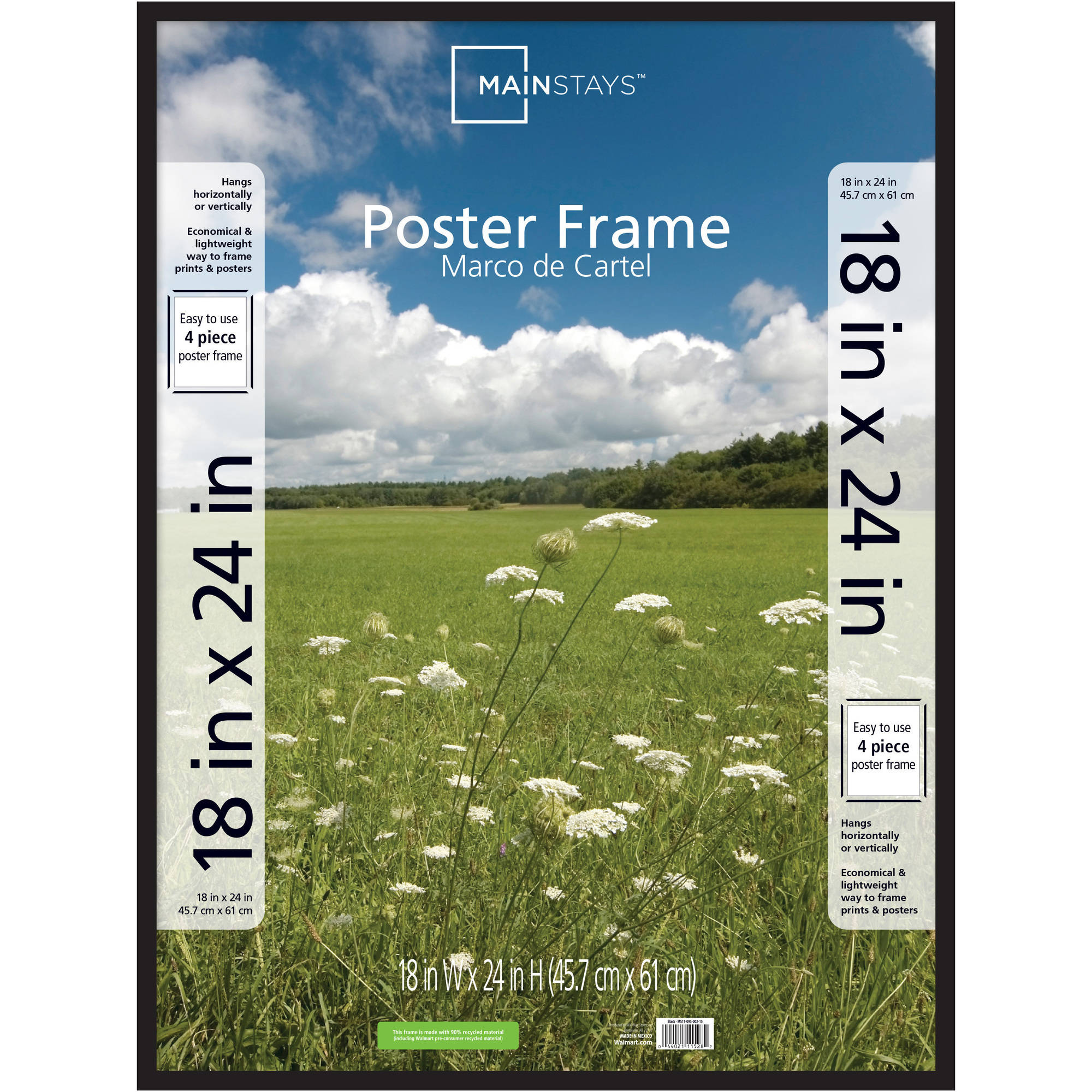 18x24 Poster Frame Dax Plastic Poster Frame Traditional Clear Plastic Window