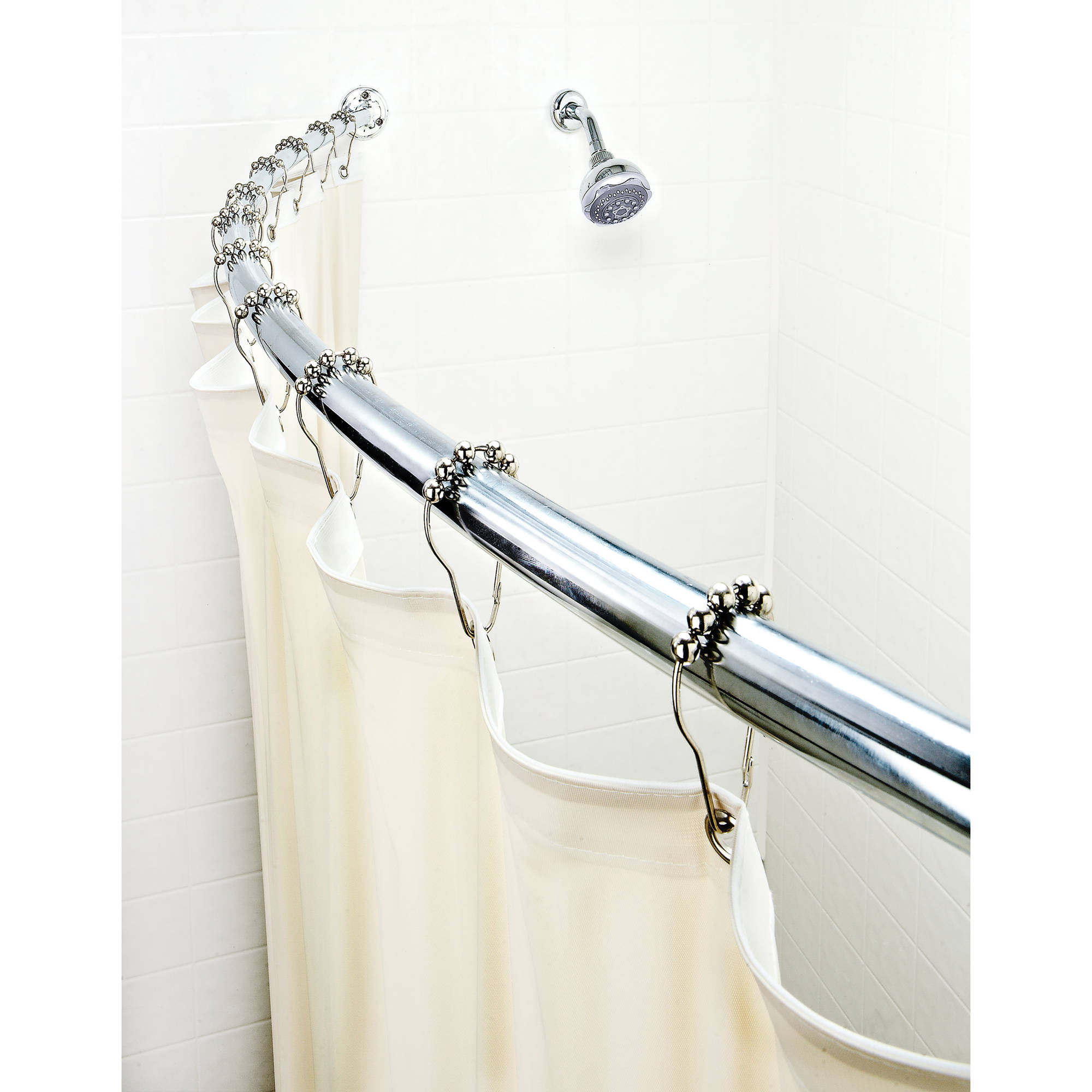 18 24 Inch Curtain Rods Barclay Rectangular Shower Rod 48 Quot X 24 Quot Walmart