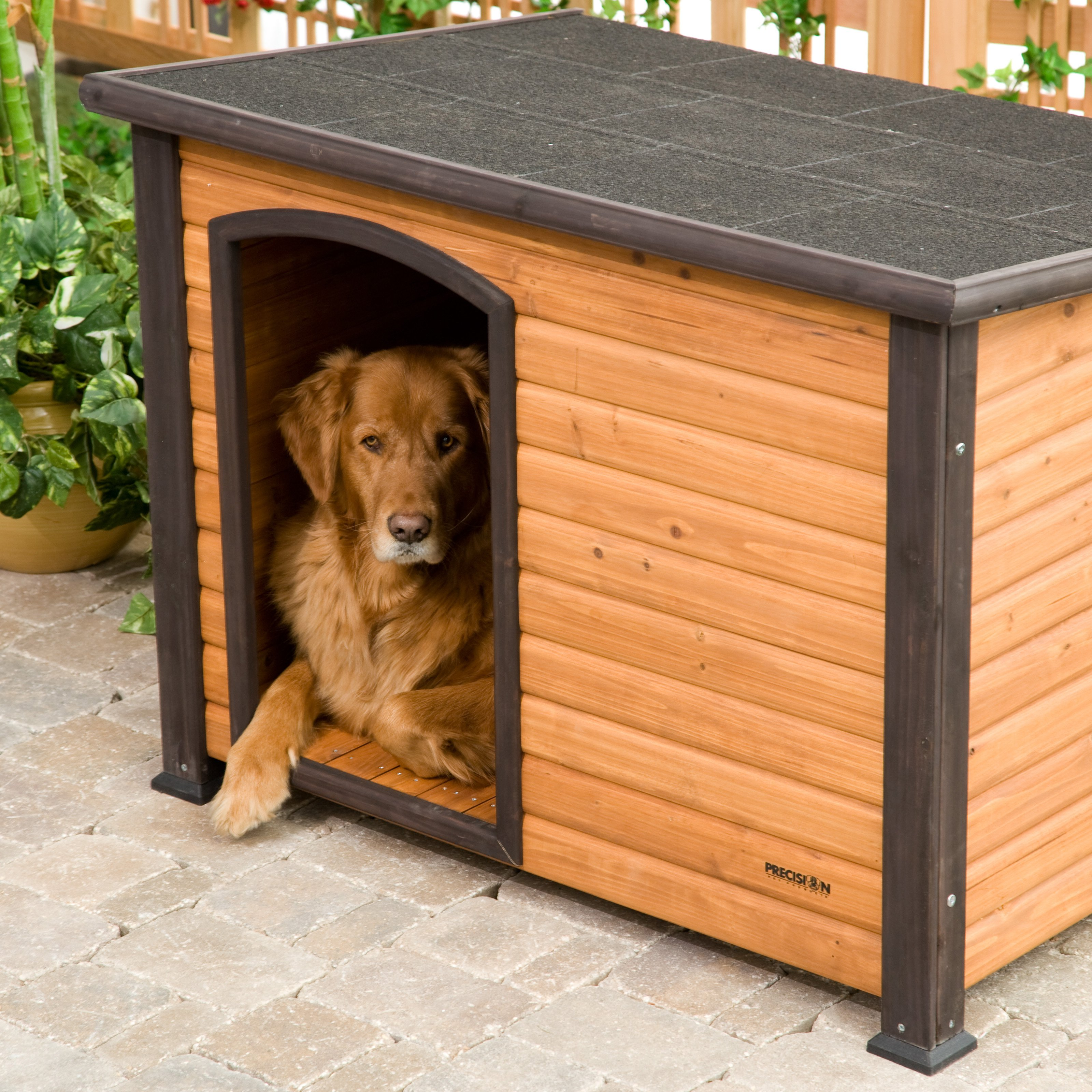 Dog House Precision Extreme Outback Log Cabin Dog House